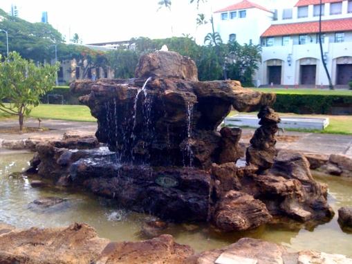 Kawaiahao fountain