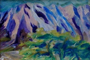 Blue Koolau Mountains by Rebekah Luke