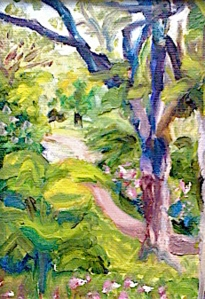 "Looking Down Upon the Path - 5""x7"" oil on canvas"