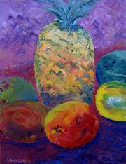 Mango papaya pineapple