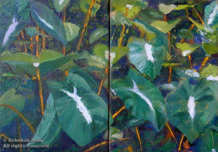 Kalo diptych - 2012 - Eva Weiss Collection & Kingston Weiss Collection
