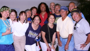 Members of the Class of 1967 in a publicity shot with classmate and music recording artist Henry Kapono Kaaihue.