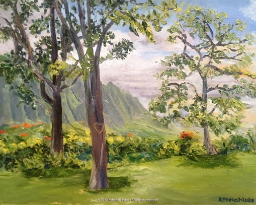 """Bluegrass Hawaii,"" 20""x16"" oil on canvas"