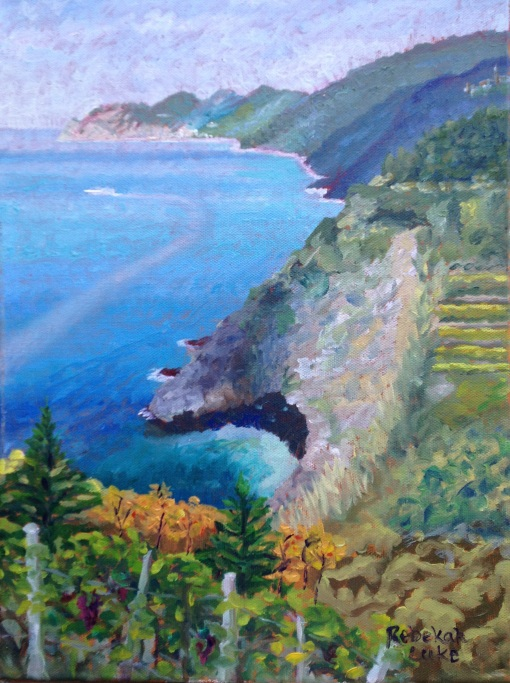 """My Corniglia,"" 30 x 40 cm, oil on canvas, by Rebekah Luke"