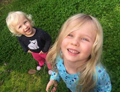 Perrin, 2, and Ayla, 4