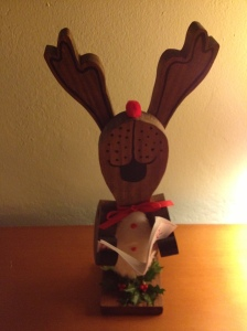Walter made the reindeer caroler.