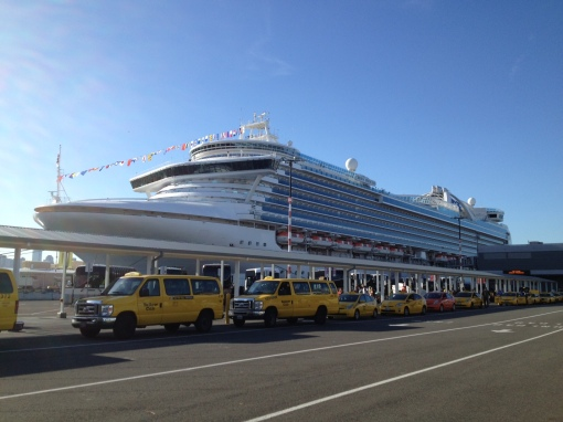 The humongous Crown Princess, our vacation base for a week