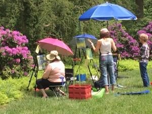 Plein air painters enjoy lots of subject matter